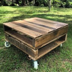 Rustic Pallet Coffee Table on Castors by PalletLifeAustralia