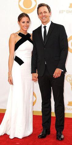 Emmy Awards 2013 - Alexi Ashe and Seth Myers