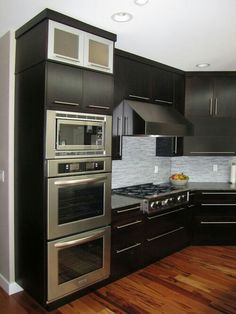 Ideas For Built In Wall Ovens And Microwaves Kitchen Design Ideas