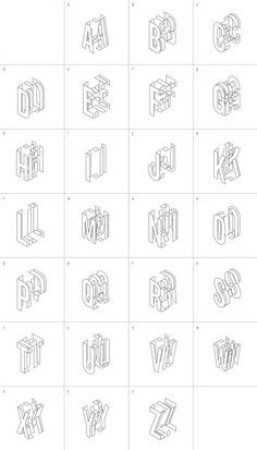 Exploded type by Craig Atkinson, via Behance