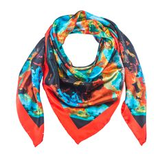 Indus Neo 5 - Red Silk Scarf - Neo Collection – Silk and Stone