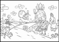 Beautiful Day For Spongebob coloring picture for kids
