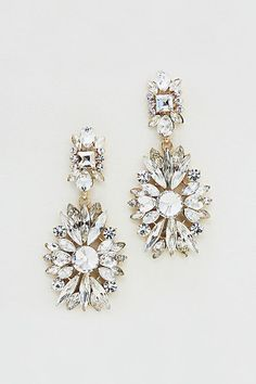 Charlotte Earrings in Crystal