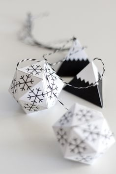 b&w paper ornaments