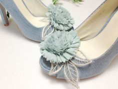 rose with leaf shoe clips