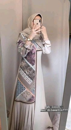 Batik Fashion, Abaya Fashion, Muslim Fashion, Fashion Dresses, Hijab Evening Dress, Hijab Dress, Kebaya Dress, Mode Abaya, Abaya Designs