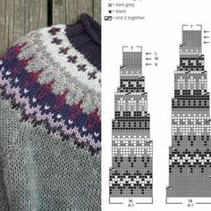 Fair Isle Knitting Patterns, Loom Knitting Patterns, Knitting Charts, Knitting Stitches, Free Knitting, Crochet Patterns, Knitting Socks, Knitting Tutorials, Stitch Patterns