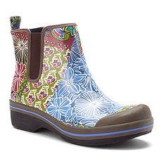Dansko Vail Rain Boot Blue Patchwork WP Canvas-LOVE IT!
