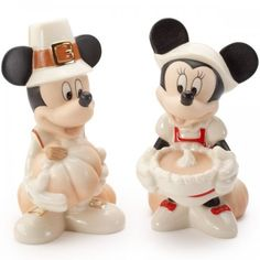 Disney Mickey and Minnie Thanksgiving Salt and Pepper Shakers