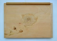 What is above us? (kitchen reflection) Wood working, 2015 (50x35 cm)