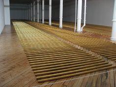 Go See – New York: The Broken Kilometer, 1979 Walter de Maria at Dia through June 13 Ai Weiwei, Land Art, Robert Morris, Light And Space, Installation Art, Art Installations, Conceptual Art, Art Object, Art Plastique
