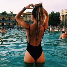 Swimwear: zaful black one piece swimsuit summer girly tumblr instagram sexy backless travel