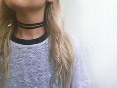 Double strand black velvet choker necklace  by EndlessUniverse