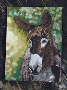Portrait d'âne Baudet de Poitou Artiste animalier  La Galerie de Julie