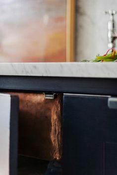 A Stunning Kitchen Trifecta: Marble, Copper, and Dark Cabinets — Kitchen…