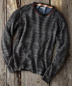 Effortlessly Cool Men's Sweaters - First Impression Sweater - Carbon2Cobalt