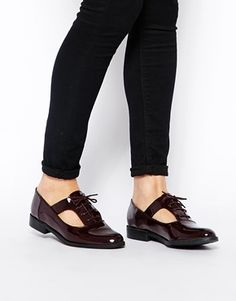 New Look Kraftwork Red Cut Out Flat Shoes $38.09