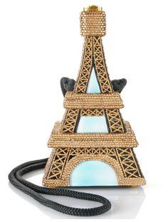 Timmy Woods Eiffel Tower Crystal Clutch