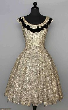 Elizabeth Arden Party Dress, C. 1955. For upcoming vintage fashion and textile…