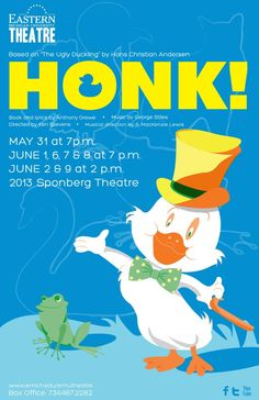 "The delightful musical, ""Honk"" opening May 31st and running till June 9th. Get your tickets now before they sell out... http://www.emich.edu/convocation/emu-events-tickets.html Only at Eastern Michigan University Theatre."