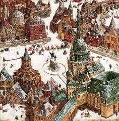 Роботи відомого на  увесь світ українського художника-ілюстратора Владислава Єрко вражають своєю винятковою деталізацією
