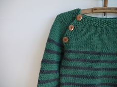 NEW - Nautical Jumper - boy or girl sweater size 3-5 - natural wool via Etsy