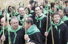 Participando en la tradicional Romería de las Cañas, del primer domingo de Magdalena
