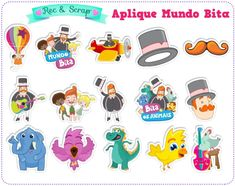 30 Recorte Aplique Mundo Bita 4cm no Elo7 | Rec&Scrap Papelaria Personalizada (971CB4) 1 Year Birthday, Boy Birthday, Sleepover Party, Baby Party, Bffs, Alice, Hello Kitty, Scrap, Disney Characters