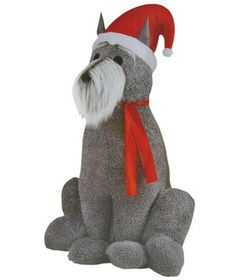 Inflatable Furry Schnauzer Dog | Create a joyful display outside of your home this winter using these holiday finds.