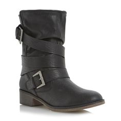 Head Over Heels Ladies RAVELLO - Faux Shearling Lined Calf Boot - black | Dune Shoes Online