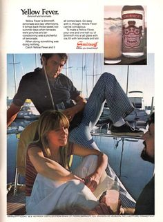 Yellow Fever, Advertising, Ads, Smirnoff, Summer Days, Comebacks, Liquor, Ebay, Vintage