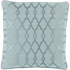 "House of Hampton Beatrix Throw Pillow Size: 20"" H x 20"" W x 4"" D, Color: Gray, Filler: Down"