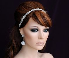 SALE Beaded Headband Wedding Headband Beaded by EleganceByKate