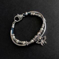Friendship Bracelets, Beaded Bracelets, Charm Bracelet, Leather Bracelet, Boho Bracelet, Girlfriend Bracelets, Boho Jewelry, Silver Jewelry