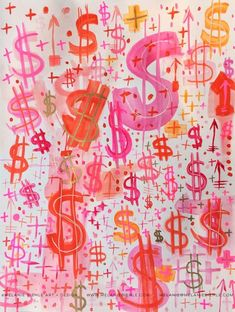 A feminine pink semi-homage to Andy Warhol's dollar sign paintings. Or the one where I discuss why my 2017 word of the year is EARN. Bedroom Wall Collage, Photo Wall Collage, Picture Wall, Collage Art, Wall Art, Collages, Photowall Ideas, Bd Art, Collage Background
