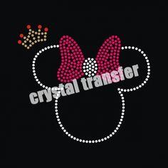 Minnie Mouse Rhinestone Transfers Design