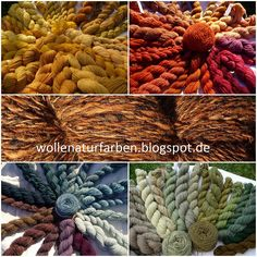 Wool Nature Colors: My dyeing courses, cold stain and my dyes with natural colors Yarn Colors, Colours, Easy Yarn Crafts, World Of Color, Textiles, Mother Nature, Fiber Art, Shibori, Tela