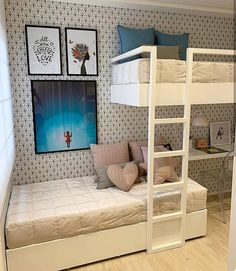 bunk-up buttercup: 19 bunk beds that will make you want to have a sleep over! - bunk-up buttercup: 19 bunk beds that will make you want to have a sleep over! Beds For Small Spaces, Diy Bunk Bed, Bed For Girls Room, Bedroom Design, Baby Room Furniture, Bedroom Decor, Girl Room, Cute Bedroom Ideas, Shared Girls Room