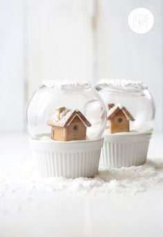 Too cute — edible snow globes.