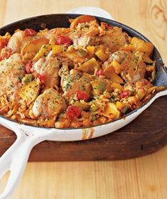Real Simple : Arroz con Pollo With Apples. lThis is a great freezer meal!  I usually make a double batch and freeze in ziplock baggies for lunch.  lilferg