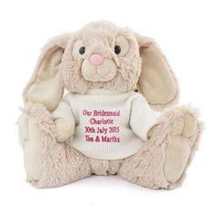 Personalised easter bunny milk chocolate bar the hut market personalised baby girl bunny with jumper perfect gift or present for birthdays new born baby girl newborn present naming day for daughter negle Image collections