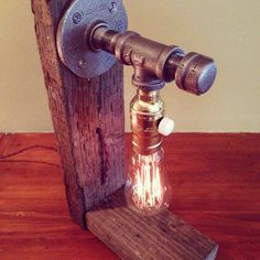 Industrial Lighting - Steampunk Lamp - Table Lamp - Edison Light - Vintage Light…
