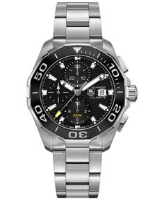 Tag Heuer Men's Swiss Automatic Chronograph Aquaracer Calibre 16 Stainless Steel Bracelet Watch 43mm CAY211A.BA0927