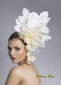 Wedding Hats and Fascinators   dramatic wedding hat haute couture bridal fascinator