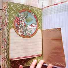 Christmas Junk Journal Music Sheet Paper, Christmas Journal, Graph Paper, Handmade Journals, Journal Covers, Colored Paper, Poinsettia, Junk Journal, Christmas Holidays