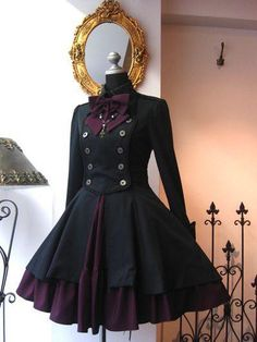 Pin on Gothic Lolita Pin on Gothic Lolita Steampunk Fashion, Gothic Fashion, Vintage Fashion, Pretty Outfits, Pretty Dresses, Beautiful Dresses, Mode Outfits, Dress Outfits, Fashion Dresses