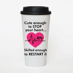 Cute Nurse Funny Quote   Coffee cup insulated by SweetSipsters, $15.00
