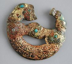 481-221 B.C.E. Cast Bronze   ornament, Warring States period,  China. LACMA Zhou Dynasty, Warring States Period, Body Adornment, Ancient China, Ancient Jewelry, Dark Ages, Ancient Artifacts, Chinese Antiques, Ancient Civilizations