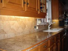 kitchen countertops in tile | ... Options of the Best Tile For The Kitchen with granite countertop