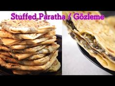 Stuffed Paratha | Gozleme - Dosatopizza Bread Dishes, Types Of Bread, Lunch Box Recipes, Appetisers, Appetizer Recipes, Bread Recipes, Stuffed Paratha, Snacks, Ethnic Recipes